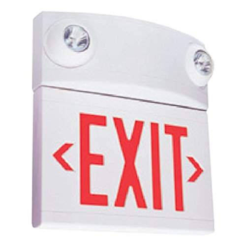 Hubbell 00450 - 10 watt LED White / Red Emergency Light / Exit Sign (Hubbell Emergency Light)