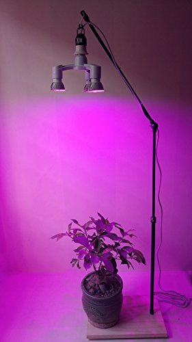 60W Led Plant Grow Lights Stand&Fixture&Bracket Rack with 3in1 Led Growing Lamp Full Spectrum for Home Indoor Plants Growing (with 3in1 bulb) by AiHihome