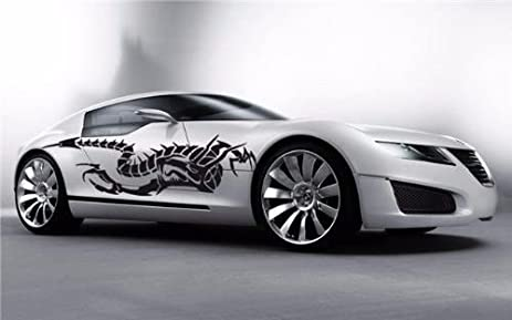 Amazoncom Angry Tribal Dragon Car Vinyl Side Graphics Both Sides - Car side decals designpopular sport car graphicsbuy cheap sport car graphics lots from