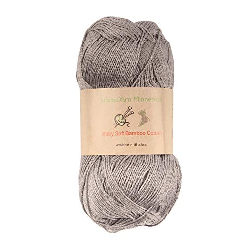 (Baby Soft Bamboo Cotton Yarn - JubileeYarn - Smoky Sky - 4 Skeins)
