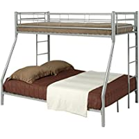 Coaster Twin/Full Bunk Bed, Silver
