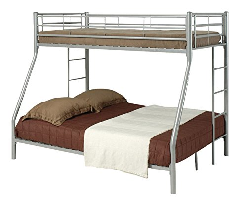 Denley Twin over Full Bunk Bed Silver