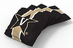 Proline 6x6 Ncaa College Vanderbilt Commodores Cornhole Bean Bags - Stripe Design (A)