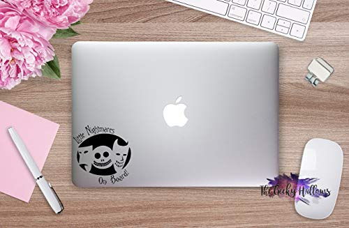 SimplyVinylized Little Nightmares On Board Halloween Town Vinyl Decal Sticker Purple