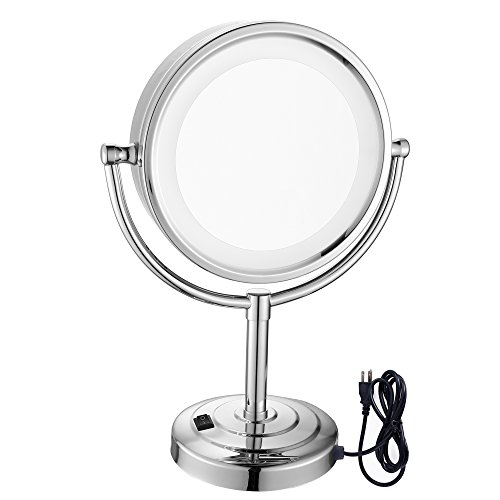 GURUN Tabletop Double Sided LED Lighted Makeup Mirror wit...