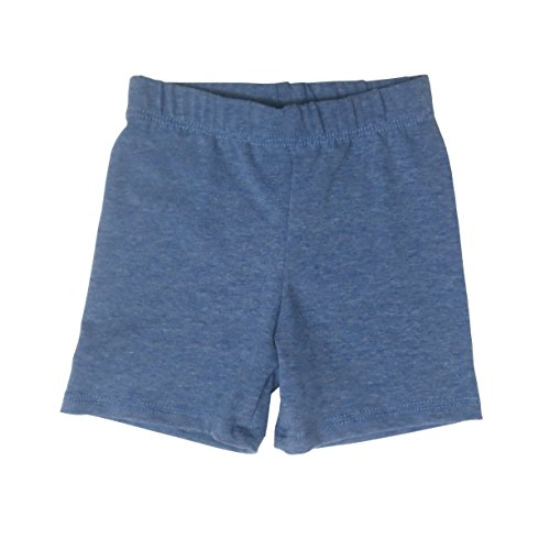 Daffodil Baby and Toddler Shorts - Boys Girls Cotton Short Pants Available In Multiple Colors and Sizes Blue Denim Heather (Baby Daffodil)