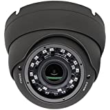 SVD, HD-TVI 1080P Full HD, 4 in 1 all compatible ( CVBS/TVI/AHD/CVI) Video output, 2.8-12mm Vari-Focal Turret Security Camera, Night Vision, Indoor/Outdoor, Black