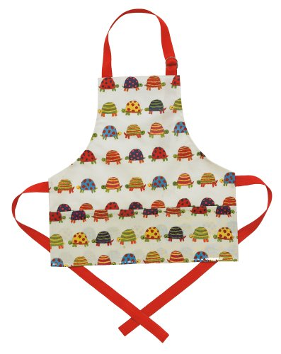 Now Designs Kid's Laminated Apron, Tiny Tortoise