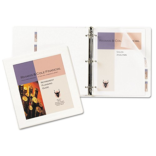 Averyamp;reg; - Framed View Binder With One Touch Locking EZD Rings, 1amp;quot; Capacity, White - Sold As 1 Each - Clean, elegant border on front panel perfectly frames and centers ()