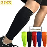HiRui Calf Compression Sleeve,Shin Guards for Soccer Calf Brace Honeycomb Crashproof Calf Pads for Shin Splint, Pain Relief, Basketball Baseball Cycling,Ideal for Kids Youth Adult(1 Pair)