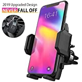 Cell Phone Holder for Car, Universal Car Air Vent Mount with Adjustable Compatible with iPhone 11 Pro Max XS XS Max XR X 8 8+ 7 7+ SE 6s 6+ 6 5s Samsung Galaxy S10 S9 S8 S7 and More (Black): more info