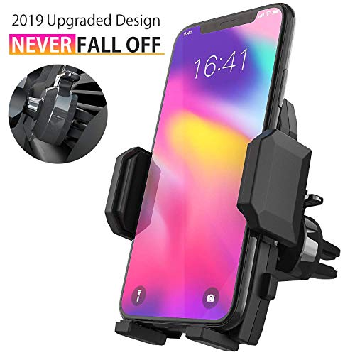 Cell Phone Holder for Car, Universal Car Air Vent Mount with Adjustable Compatible with iPhone 11 Pro Max XS XS Max XR X 8 8+ 7 7+ SE 6s 6+ 6 5s Samsung Galaxy S10 S9 S8 S7 and More (Black) best to buy