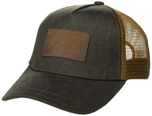 Rugged Trucker Cap - pistil Men's Peak, Brown, One Size