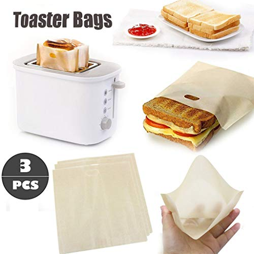 ( Orcbee  _Toaster Bags Reusable for Grilled Cheese Sandwich Non-Stick Heat Resistant)