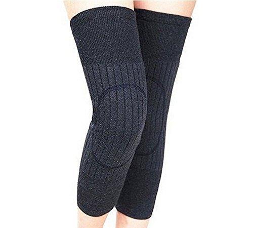 Unisex Cashmere Wool Knee Brace Pads Winter Warm Thermal Knee Warmers Sleeve for Women Men (Dark - Warmers Leg Mens