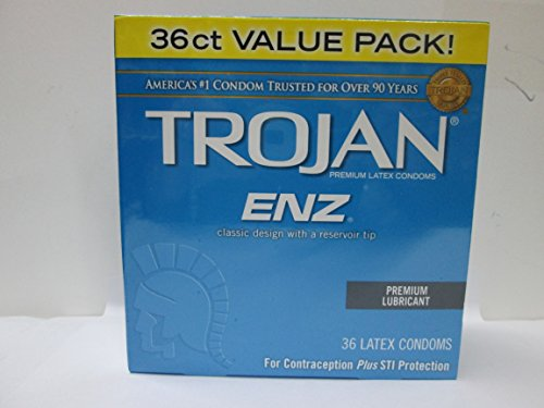 Trojan-enz Condom ENZ Lubricated, 36 Count (144 Condoms) by Trojan