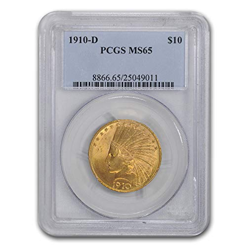 1910 D $10 Indian Gold Eagle MS-65 PCGS G$10 MS-65 PCGS