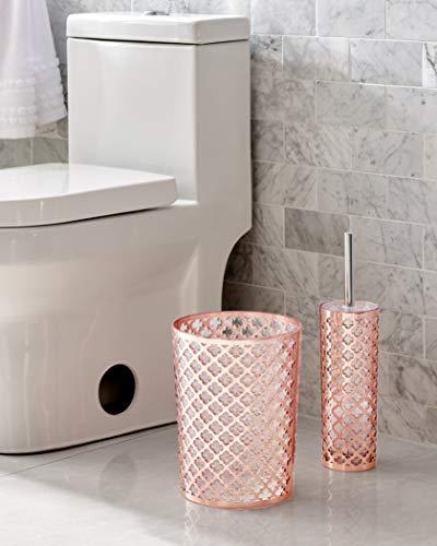 RedBeans Black Gold Marble Bath Mat Bathroom Carpet Rug Washable Non-Slip 3 Piece Bathroom Mat Set