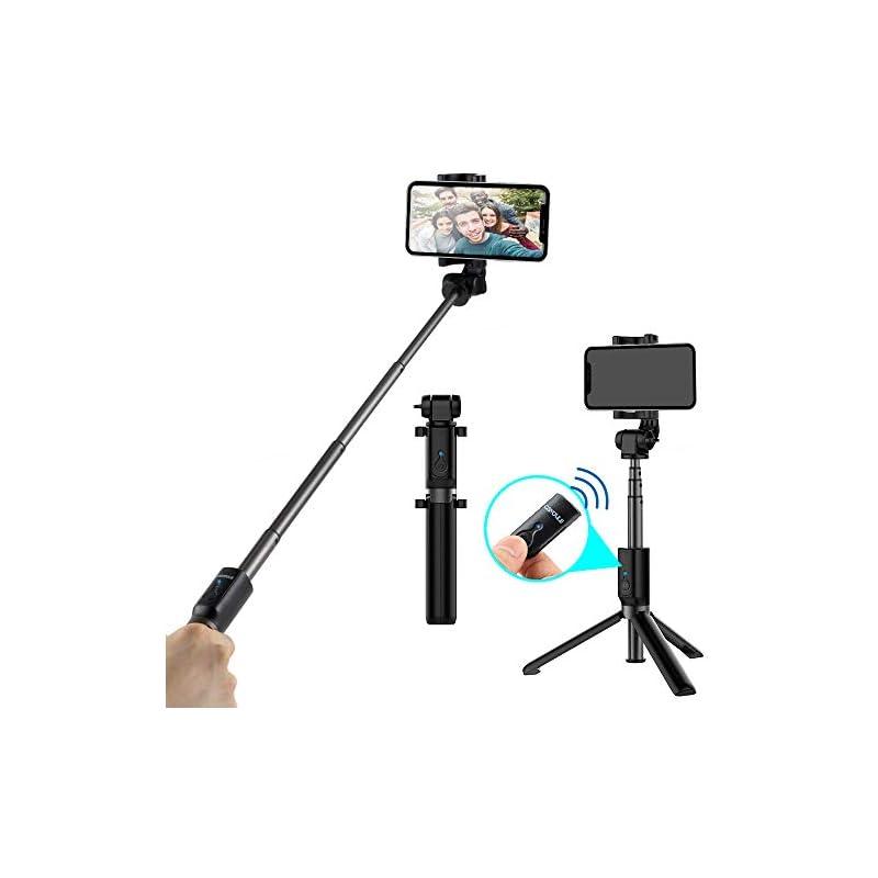 Selfie Stick Bluetooth Phone Tripod Stand, CAIYOULE