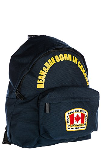 Dsquared2 Nylon Rucksack Herren Tasche Laptop Schulrucksack Canada blu