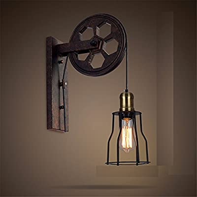 MEIREN Wall Light Sconce Lamp Lighting Industrial Vintage Iron A H48Cm,#0263
