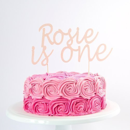 First Birthday Decoration Cake Topper. Personalised Name and Age