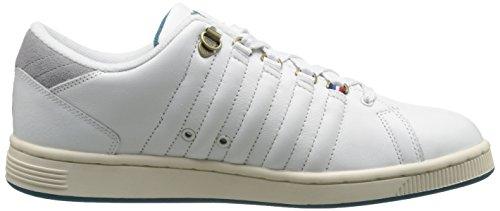 K-swiss Heren Lozan Iii P Fashion Sneaker Klassiek Wit / Neutraal Grijs / Koloniaal Blauw