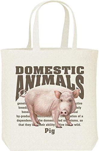 エムワイディエス(MYDS) ブタ(豚)<飼育動物・家畜/キャンバス M トートバッグ