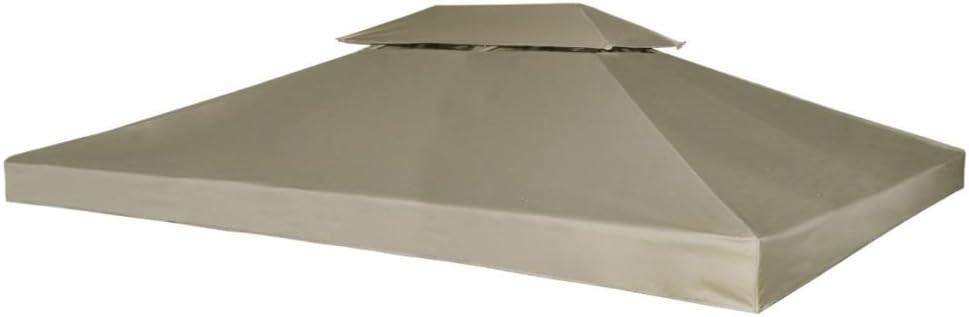 Toldo de Cenador de Repuesto Tela Impermeableo 310 g/m² 3x4m para ...