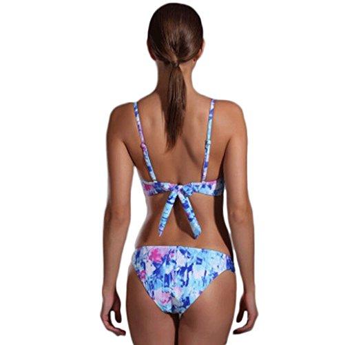 Traje de baño de las señoras Traje de baño de moda de acero tulipán triángulo bikini traje de baño de dos piezas Bikini Multi - color