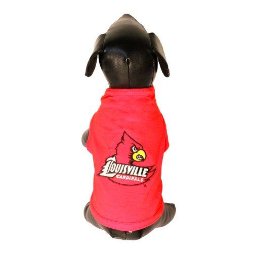 Lycra Dog Tank (NCAA Louisville Cardinals Cotton Lycra Dog Tank Top, Small)