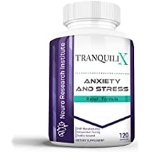 TranquiliX Anxiety and Stress Relief Formula | Advanced Anti-Anxiety Mood Support | Sleep Aid | Reduce Panic Attacks | Increase Calm, Happiness, and Relaxation | Stress Reduction (120 Capsules)