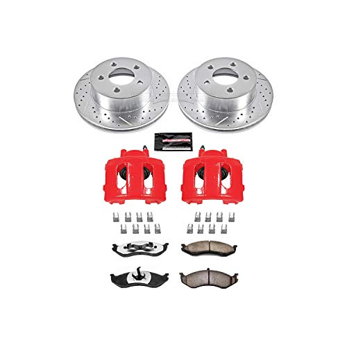 Power Stop KC2152-36 Front Z36 Truck and Tow Brake Kit with Calipers