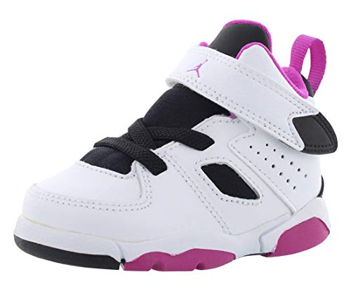 Jordan Toddler Flight Club 91 (TD) White Black Fuchsia Blast Size 9 (Jordans Shoes Girls)