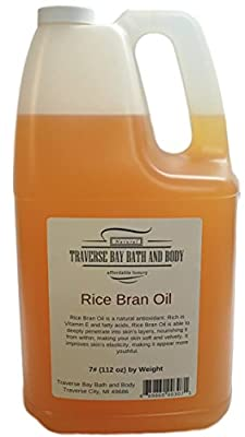 RICE BRAN OIL. Soap making supplies. 7 pound Gallon. from Traverse Bay Bath and Body
