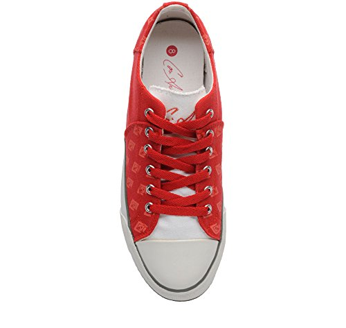 Cori Anthony Elite Classics Men's Canvas Custom Low Top Casual Lace Up Sneaker Red dJeJXcbsuT
