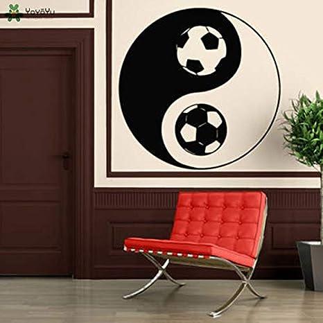 Tatuajes de pared Dormitorio de los niños Deportes Mural Yin Yang ...