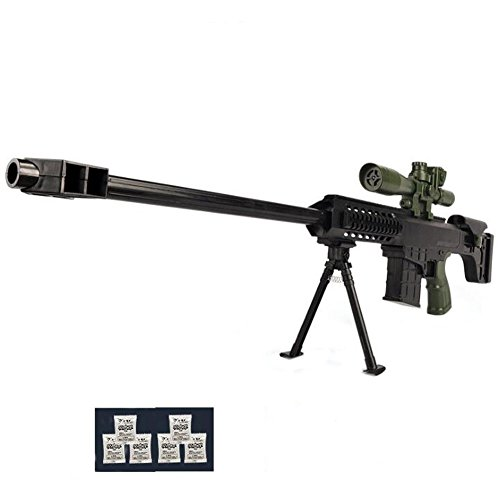 Price comparison product image NOQ Crystal Bullet Gun / Toy Gun Sniper / Infrared Sighting / Farthest Shooting Distance Of Up To 25 Meters / Shoot The Transparent Water Bullet Without Any Danger