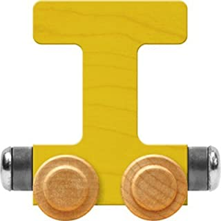 product image for Maple Landmark NameTrain Bright Letter Car T - Made in USA (Yellow)