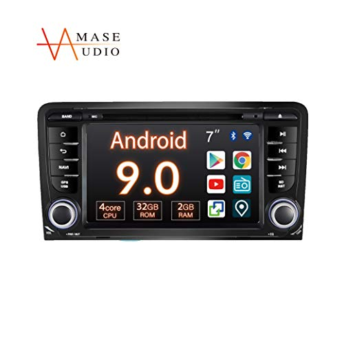 """Car Stereo, 1 Din for Audi A3 S3, 7"""" Touchscreen, DSP Built-in, Support Android Auto Apple Carplay/GPS navigation/HD1080P/Fast Boot/Backup Camera/OBDII"""