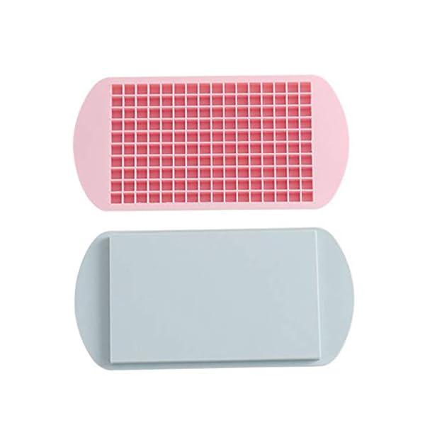 YZBear 2 Pezzi Vaschetta del Ghiaccio Stampo per Cubetti di Ghiaccio in Silicone 160 Griglia Creatore di Cubi Muffa… 1 spesavip