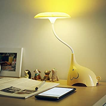 E plaza cute elephant led desk lamp touch sensitive 3 levels of e plaza cute elephant led desk lamp touch sensitive 3 levels of brightness usb aloadofball Images