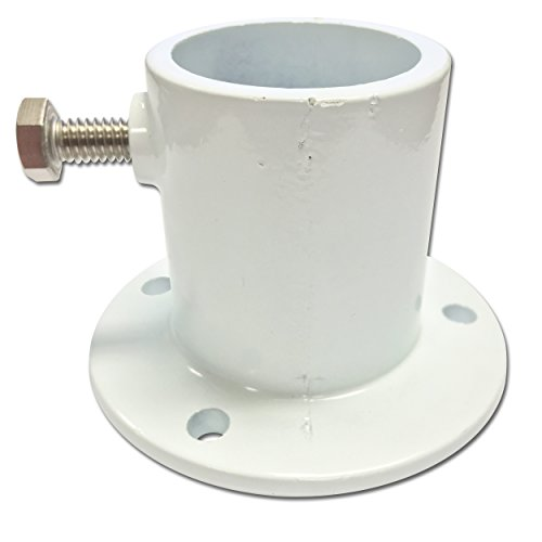 Perma Cast Replacement Ladder and Handrail Aluminum Deck Anchor Flange - 1.9 Inch ()