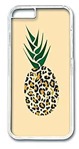 iphone 5s Cases, Leopard Pineapple Funny Illustration Protective Case with Aesthetic Print Hard Back Cover for iphone 5s(inch)[Scratch-Resistant] [Perfect Fit] [Anti-Slip] [Good Grip] Polycarbonate Plastics Transparent