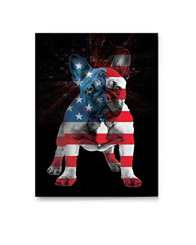 Pekatees French Bulldog Canvas Wall Art Cute Dog Canvas Dog Lovers Gifts for Decoration USA Flag Wall Decoration Firework Canvas Wall Art Patriotic Decoration 24