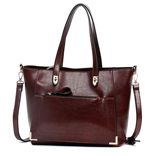 SIFINI Women Top Handle Satchel Handbags Style Soft Leather Work Tote Purse Shoulder bag ()