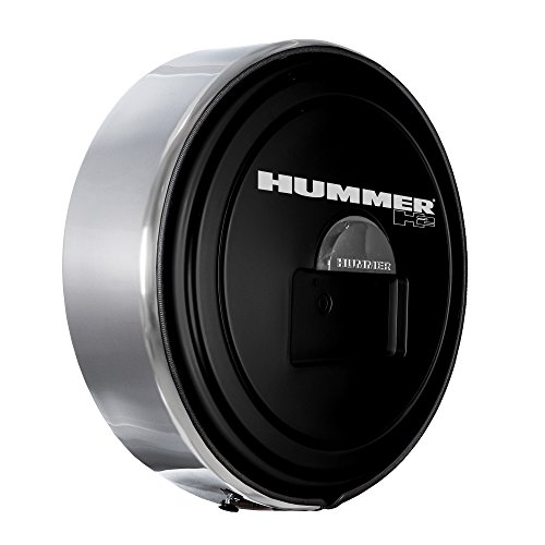 Boomerang Hummer H2 (05-10) - MasterSeries Hard Tire Cover - (Painted Plastic Face & Polished Stainless Steel Ring) - (20