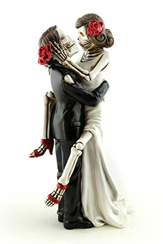 Day Collectible - Wedding Collectibles Day of the Dead Sexy Skulls Wedding Cake Topper