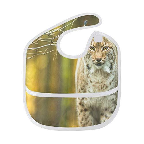 Baby Bibs Eurasian Lynx Large Drool Unisex Waterproof Toddler Bib/Smock ()