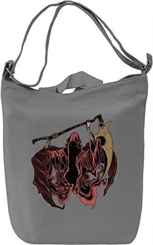 Scary grim reaper Borsa Giornaliera Canvas Canvas Day Bag| 100% Premium Cotton Canvas| DTG Printing|